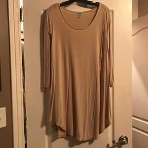 Long sleeved flow dress